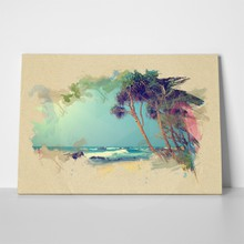 Beach on textured paper 264766859 a