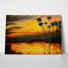 Sunset tropical beach 2 24297433 a