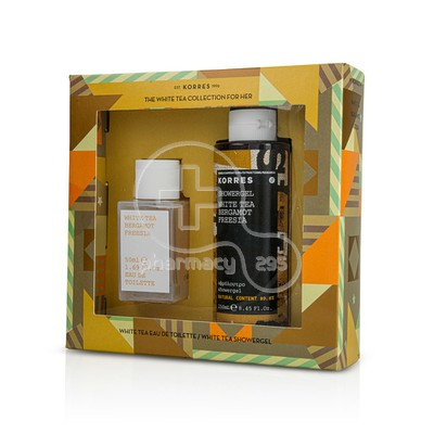 KORRES - PROMO PACK The White Tea Collection for Her - Eau de Toilette (50ml) & Showergel (250ml)