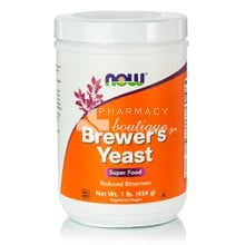 Now Brewers Yeast Debittered Powder - Ενέργεια/Τόνωση, 454gr