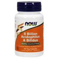 NOW 8 BILLION ACIDOPHILUS&BIFIDUS 60VEG. CAPS