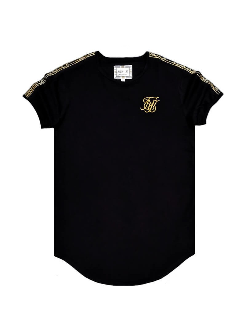 SikSilk S/S Gold Edit Runner Gym Tee - Black