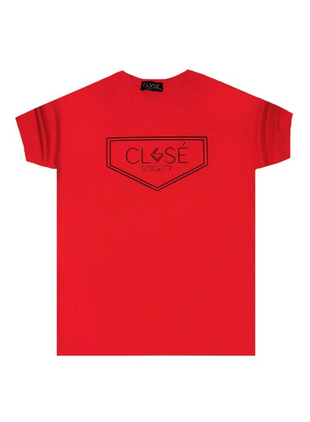 CLVSE SOCIETY RED T-SHIRT 507 TRIANGLE