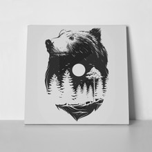 Abstract head bear 342360107 a