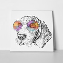 Hand drawn vintage beagle dog 740107174 a