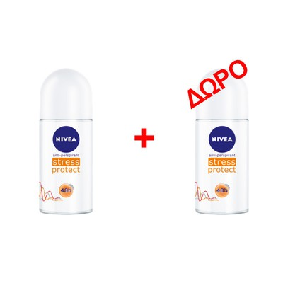 NIVEA - STRESS PROTECT Αποσμητικό roll on - 50ml - 1+1 δώρο