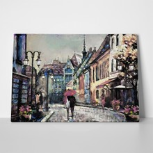 Oil painting on canvas european city 675536608 a