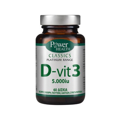 Power Health - Classics Platinum Range Vitamin D-vit 3 5000iu (125μg) - 60tabs
