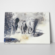 African elephants watercolor painting 292854608 a