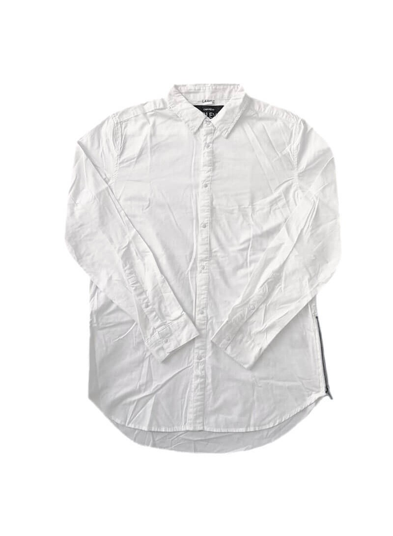SUBLEVEL WHITE SHIRT WITH BUTTONS