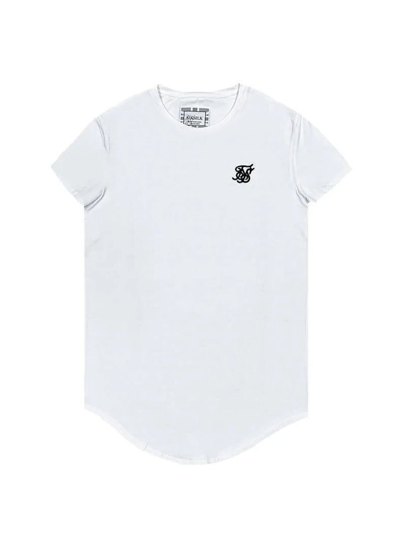 SikSilk Short Sleeve Gym Tee – White