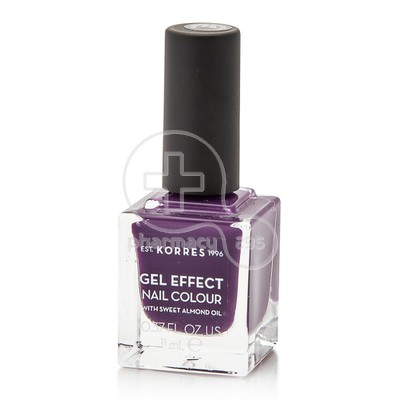KORRES - GEL EFFECT Nail Colour Νο75 Violet Garden - 11ml