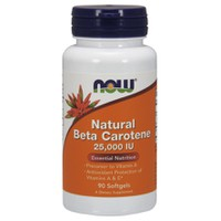 NOW BETA CAROTENE 25000IU 90SOFTGELS