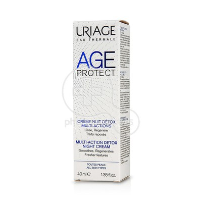 URIAGE - AGE PROTECT Creme Nuit Detox Multi-Actions - 40ml