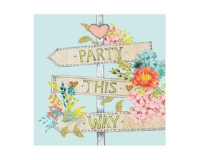 "Paper Products Χαρτοπετσέτα ""Party This Way"" 33x33cm."
