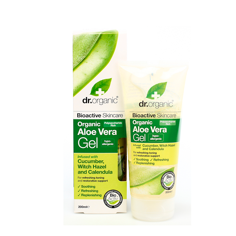 Organic Aloe Vera Gel with Cucumber & Witch Hazel
