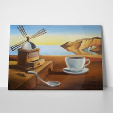 Breakfast on beach imitation painting dali 592974431 a