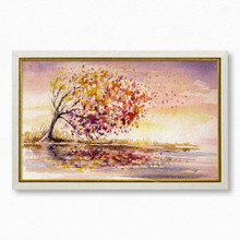 Autumn tree in wind 728 71  65x40
