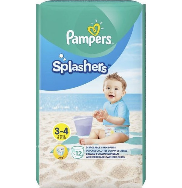 PAMPERS SPLASHERS ΜΕΓ 3-4 (6-11kg) 1 x 12 TMX