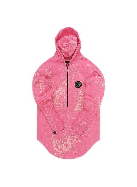 VINYL ART CLOTHING PINK HOODIE WITH SPOTS