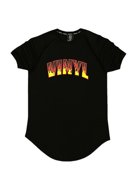 VINYL ART CLOTHING FLAMES LOGO T-SHIRT