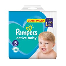 Pampers Active Baby Dry Giant Pack No 5, 11-16Kg 78 Τμχ.
