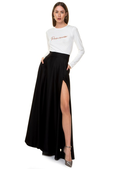 Maxi high waisted skirt