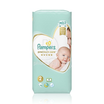 PAMPERS - PREMIUM CARE New Baby No2 (4-8kg) - 46τεμ.