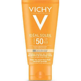 Vichy Ideal Soleil BB Tinted Dry Touch Face Fluid Mat SPF50 50ml, Ματ Αποτέλεσμα & Χρώμα