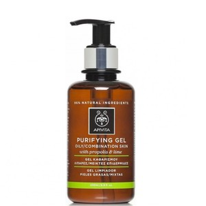 Apivita purifying gel oily combination propolis lime