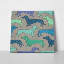 Pattern green blue dachshund dogs 179092109 a