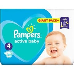 Pampers Active Baby Giant Pack No4 (9-14kg), 90 τεμάχια