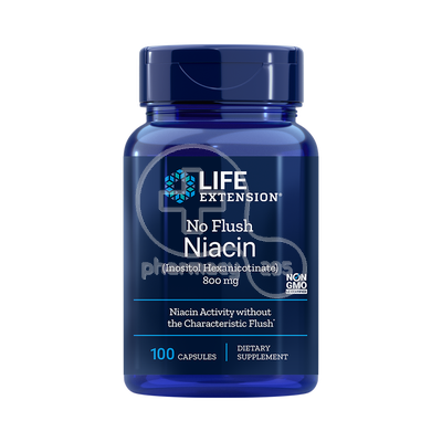 LIFE EXTENSION - No Flush Niacin 800mg - 100caps