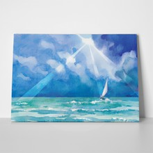 Banner watercolor style marine theme sailing 524592670 a