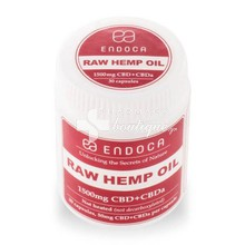 Endoca CBD Hemp Oil Capsules (Raw 1500mg of CBD+CBDa)