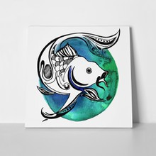 Line fish watercolor circle 322521680 a