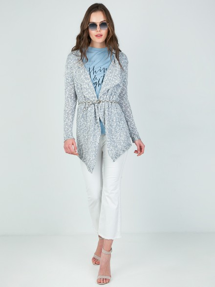Asymmetrical knit cardigan