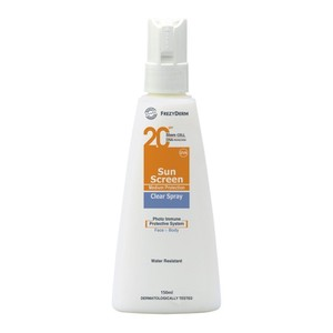 Frezyderm spf20  sun screen clear spray 150ml