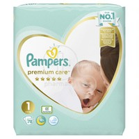PAMPERS - PREMIUM CARE New Baby No1 (2-5kg) - 78 πάνες