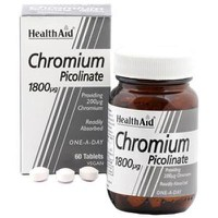 HEALTH AID CHROMIUM PICOLINATE 200MG 60TABS