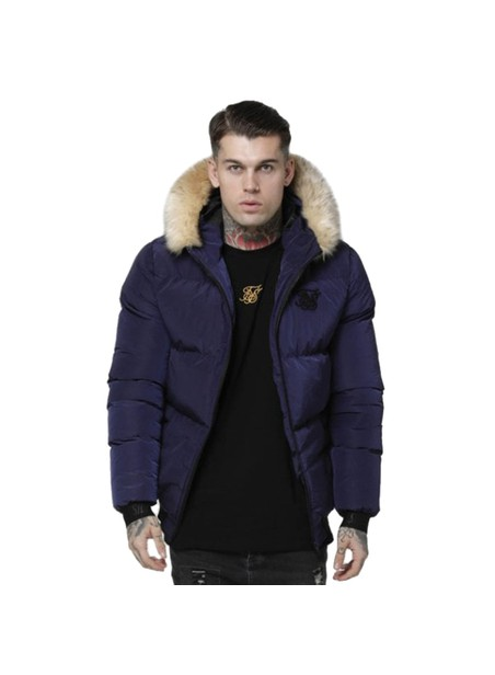 SikSilk  Distance Jacket – Navy