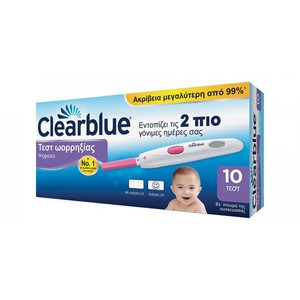 CLEARBLUE Τεστ ωορρηξίας ψηφιακό 10τεστ