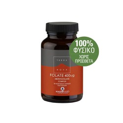 TerraNova Folate (methyfolate) 400μg 50 capsules