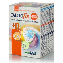 Intermed Calciofix 400 & D3 (Ασβεστίο 600mg & Vitamin D3 400i.u.), 90tabs