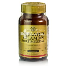 Solgar Chelated SOLAMINS MULTIMINERAL - Σύμπλεγμα Μετάλλων, 90 tabs