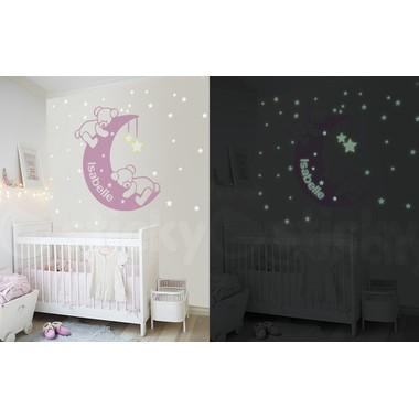 82850f88ee Αυτοκόλλητο τοίχου glow SLEEPY BEARS - Sticky