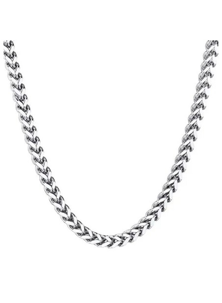 MILLIONALS SQUARE STAINLESS STEEL CHAIN SILVER