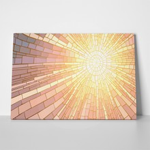 Sun rays mosaic window 185068409 a