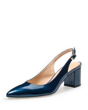 LEATHER SLINGBACK, MEDIUM HEEL - ANASTAZI BOURNAZOS