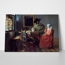 Jan vermeer van delft   the glass of wine 4